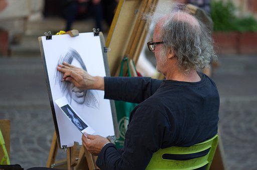 Man, Old, Painter, Artist, Person