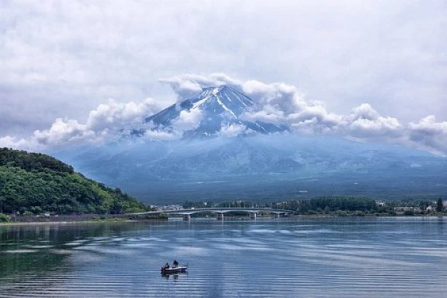 Japan, Mountain, Volcano, Fuji, Sky