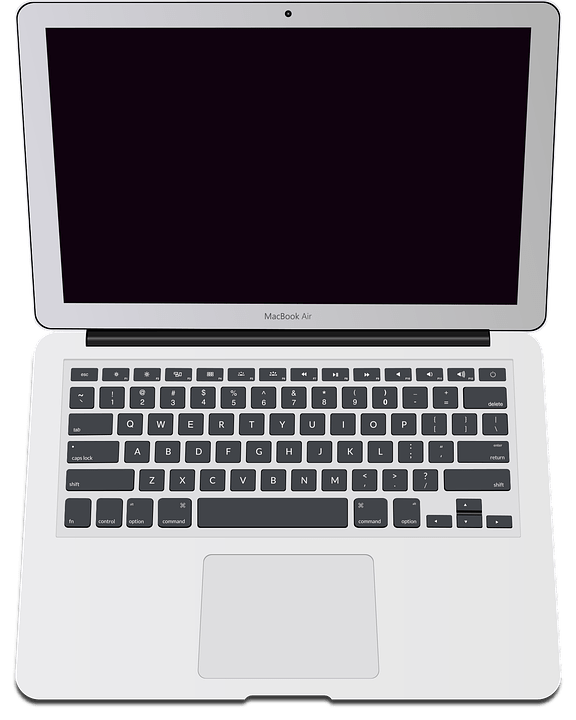 Laptop Png Vector : laptop, vector, Laptop, Macbook, Computer, Vector, Graphic, Pixabay