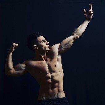 体, 男, フィットネス, 腹筋, 強い, モデル, 筋肉質, ライフスタイル