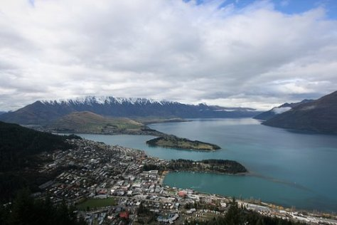 Lake, Queenstown, Water, Mountain, Cable