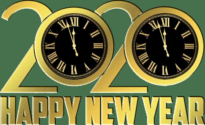 Feliz Ano Novo, Ano Novo, Relógio, Folha de Ouro 2020, Relógio
