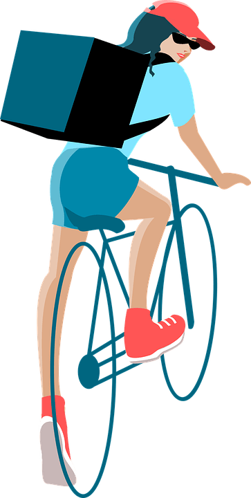 Delivery Bike Women - Free vector graphic on Pixabay