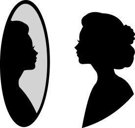 Mirror Woman Silhouette - Free vector graphic on Pixabay