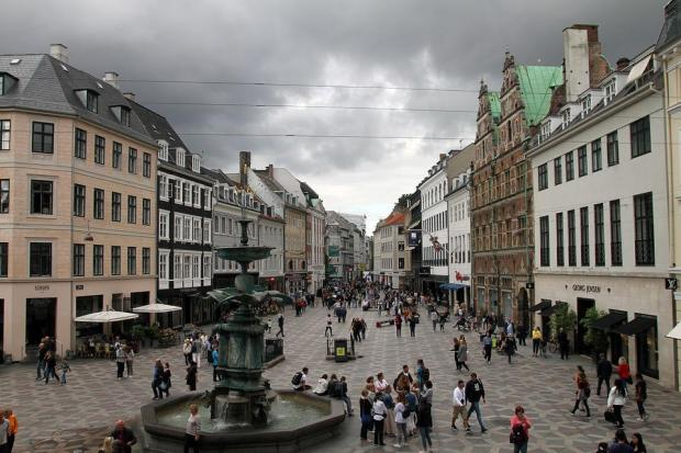 Copenhagen, Shopping Area, Architecture, Scandinavia