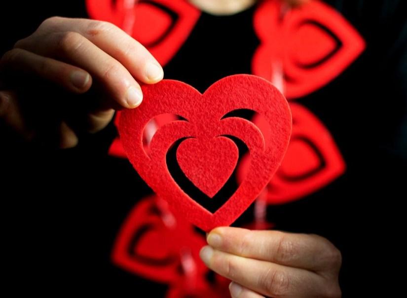 Forme De Coeur, Coeur Rouge, L'Amour, Romance, Passion