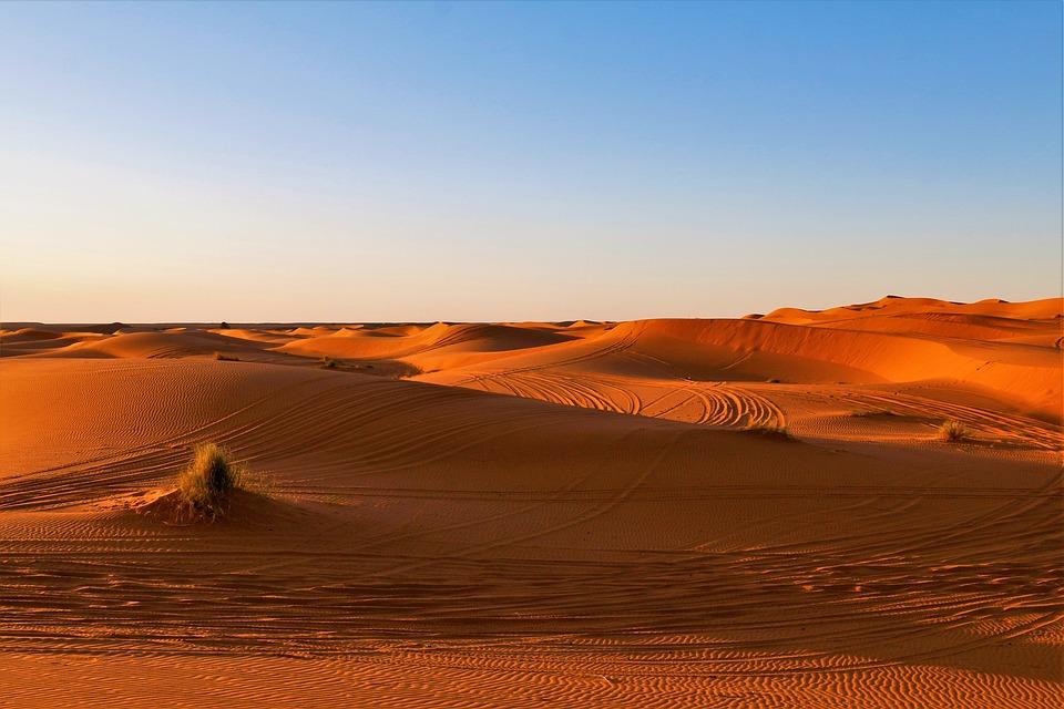 砂漠, アフリカ, サハラ砂漠, サンセット, 砂丘, アドベンチャー