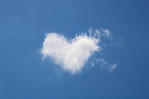 Wolk, Hart, Liefde, Romance, Romantische