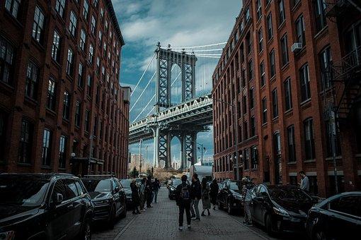 ダンボ, マンハッタン橋, ニューヨーク, ニューヨーク市, 橋