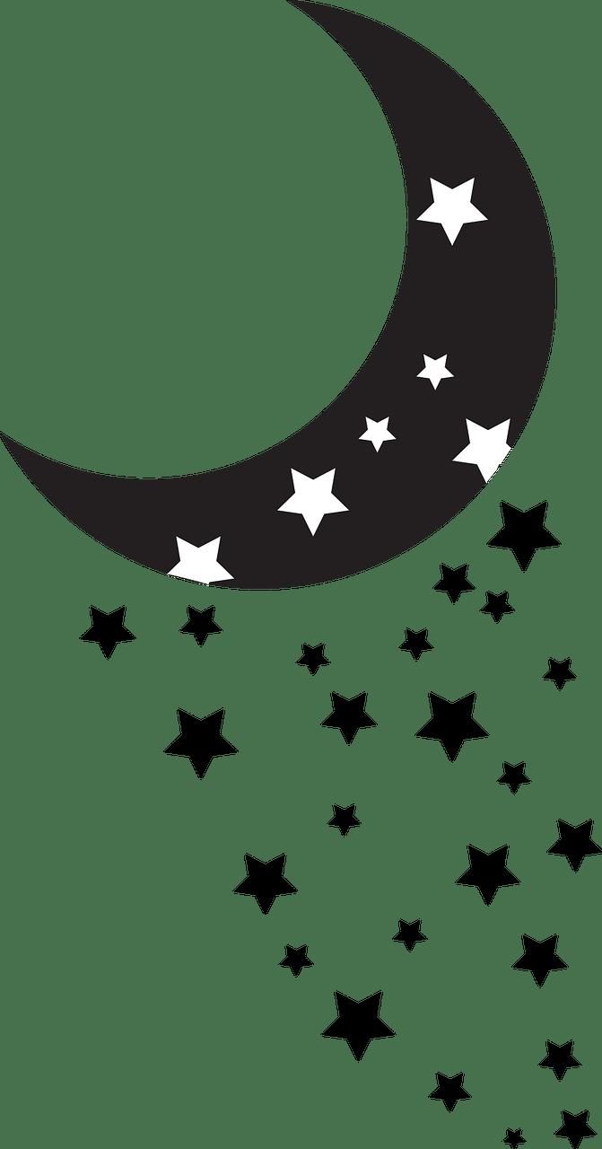 Gambar Bulan Hitam Putih : gambar, bulan, hitam, putih, Bulan, Bintang, Hitam, Gambar, Vektor, Gratis, Pixabay