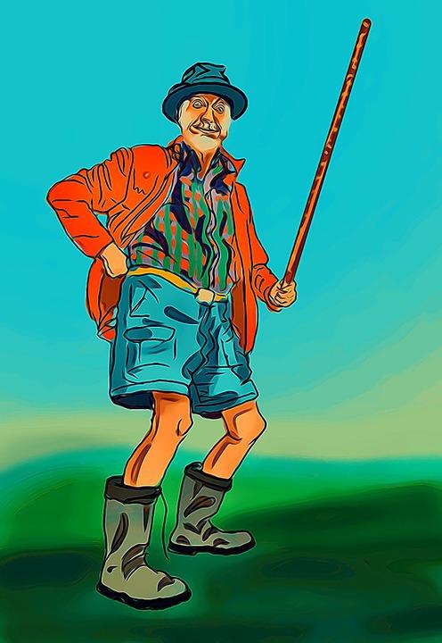 Kartun Orang Tua : kartun, orang, Orang, Tongkat, Kartun, Gambar, Gratis, Pixabay