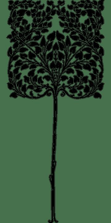 Art Nouveau Tree : nouveau, Nouveau, Flourish, Vector, Graphic, Pixabay