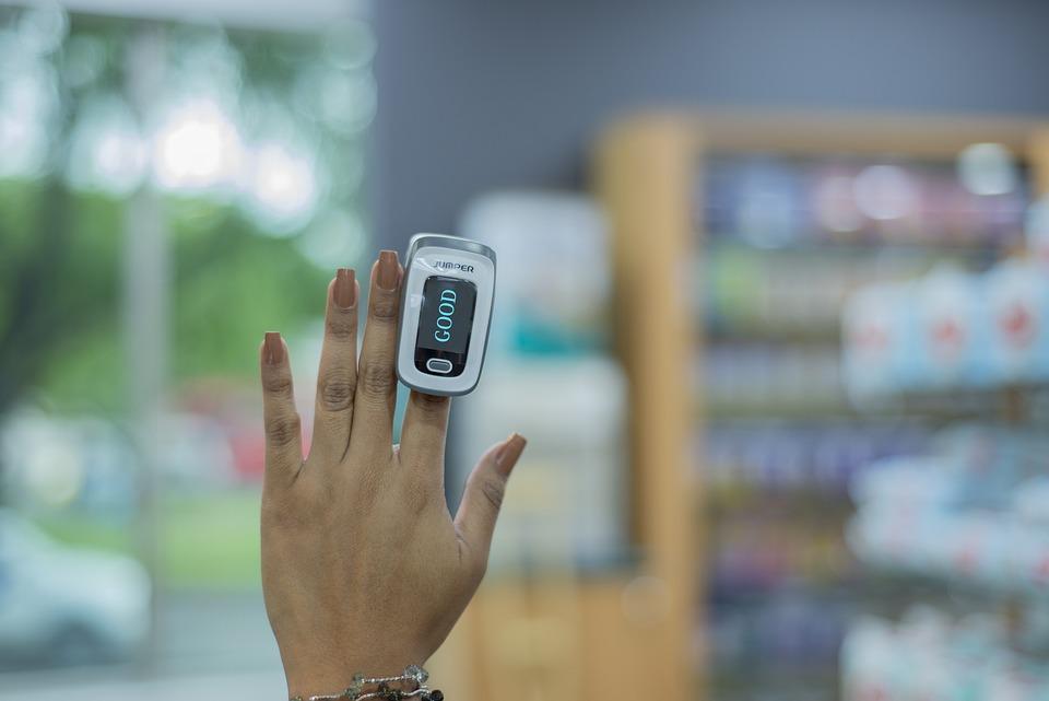 Pulse Oximeter, Hand, Healthcare, Oximeter, Wellness