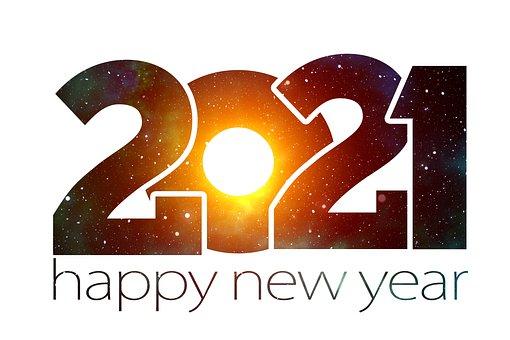 新しい年, 新しい年の前夜, 新年, 2021, 初め, ご挨拶, 星, 宇宙