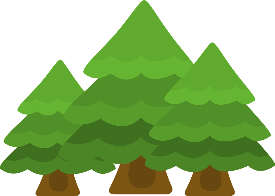 Deep forest vector clip art. Trees Forest Woods Free Vector Graphic On Pixabay