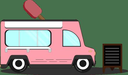 Camion De Nourriture, Crème Glacée, Van, Camion