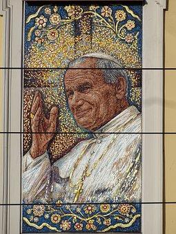 Ii, John Paul, Pope, Krakow, Mosaic