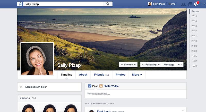 Facebook Cover Maker  Facebook Timeline Cover Editor  Designer  piZap