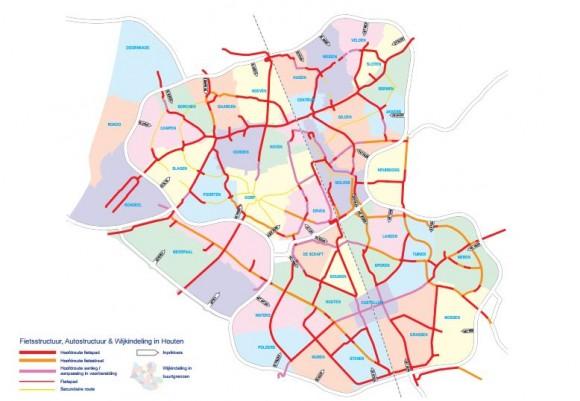 Mapa de Houten. © Municipalidad de Houten.