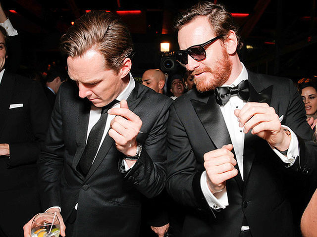When he had the best time partying with Michael Fassbender at the Golden Globes