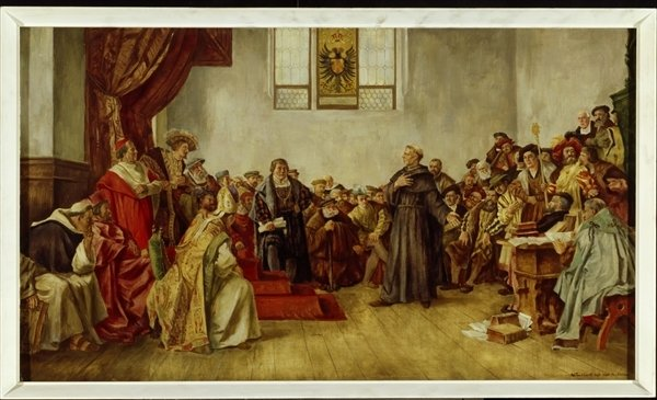 Image result for luther at the diet of worms