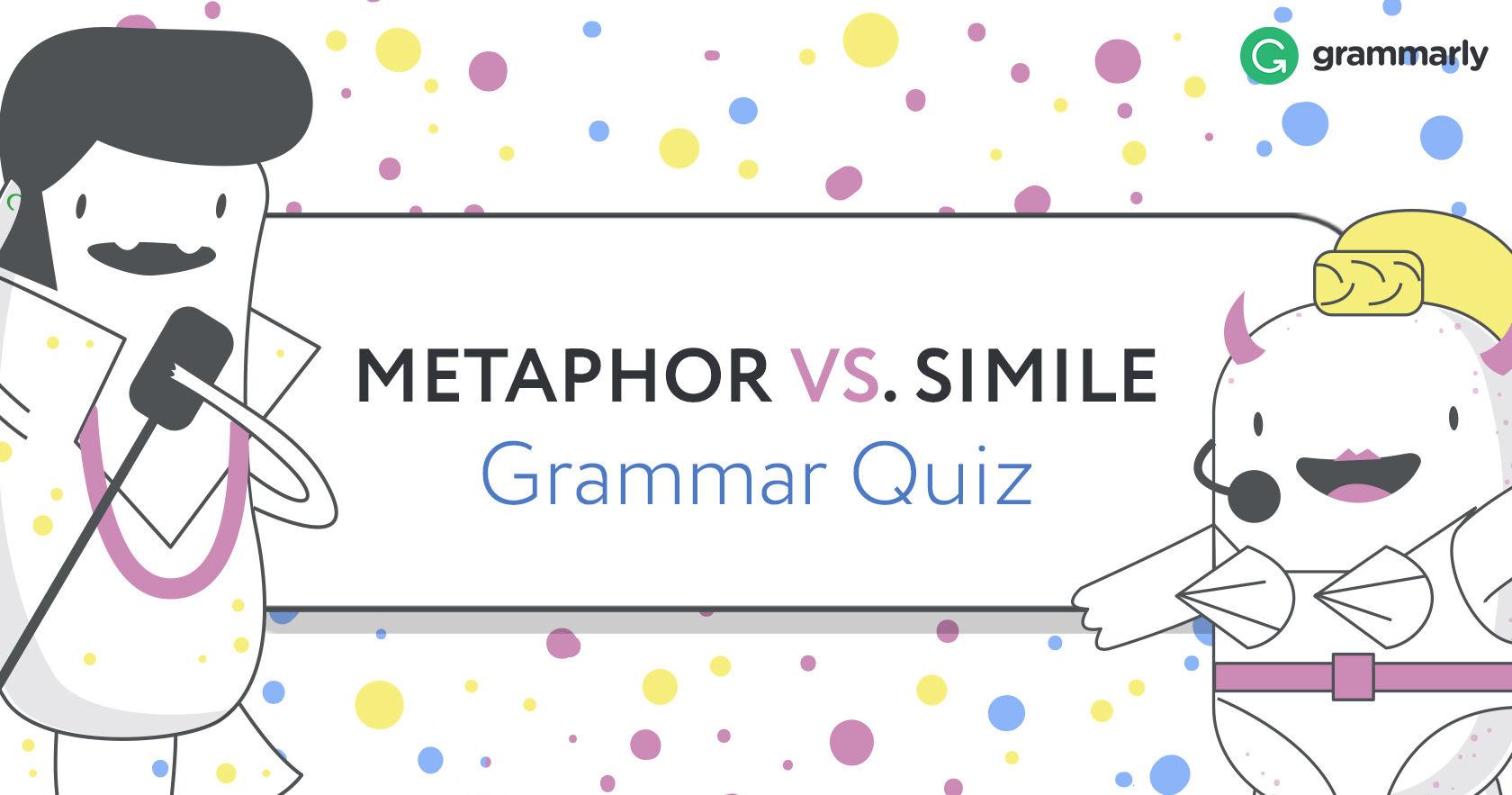 Metaphor Vs Simile Grammar Quiz