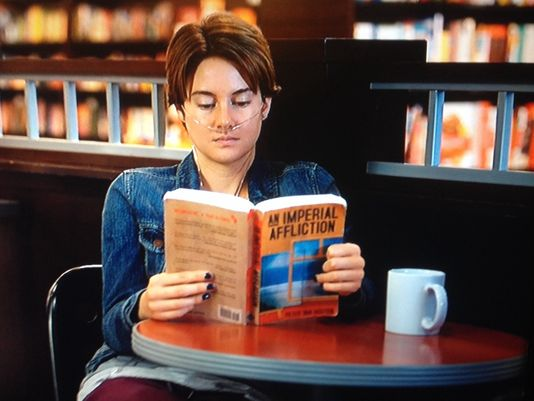 Image result for hazel grace reading