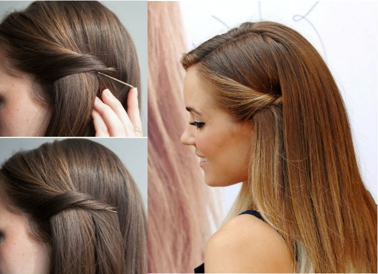 Cute Hairstyles Without Bobby Pins Easy Casual Hairstyles For