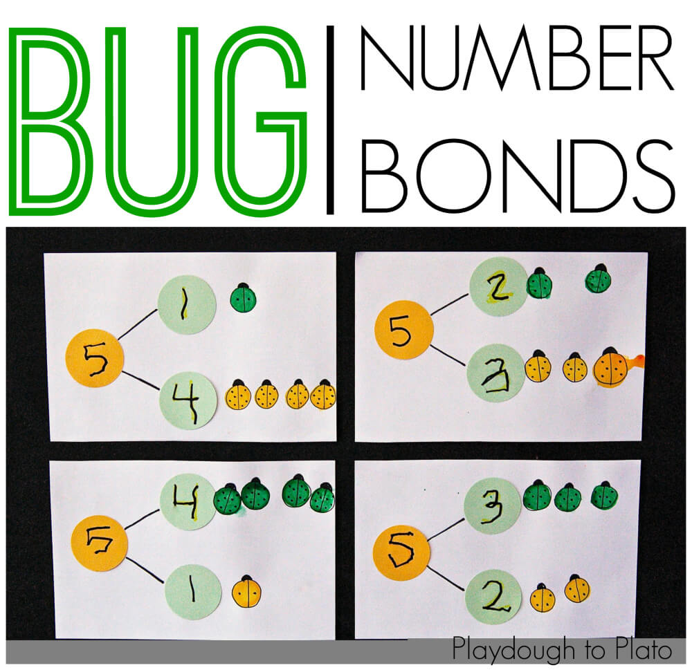 hight resolution of Bug Number Bonds - Playdough To Plato