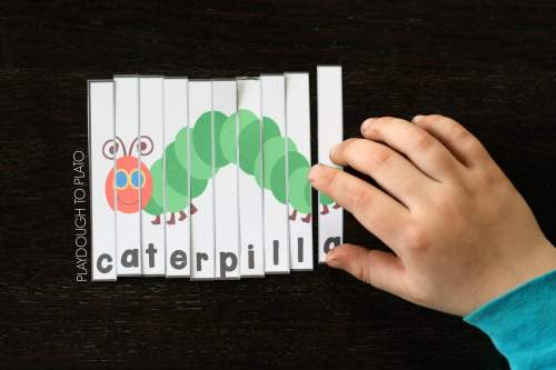 small resolution of Very Hungry Caterpillar Puzzles - Playdough To Plato