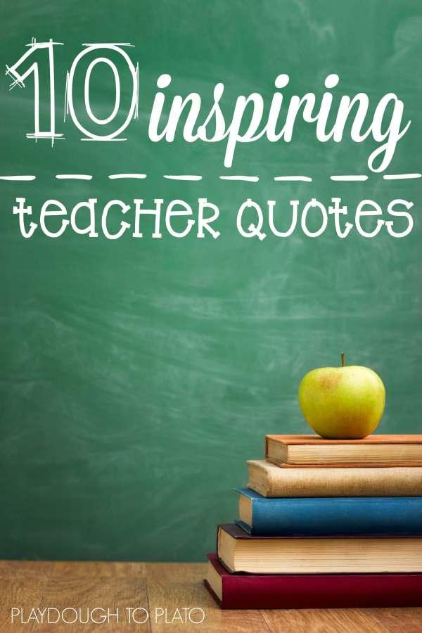 Inspiring Teacher Quotes - Playdough Plato