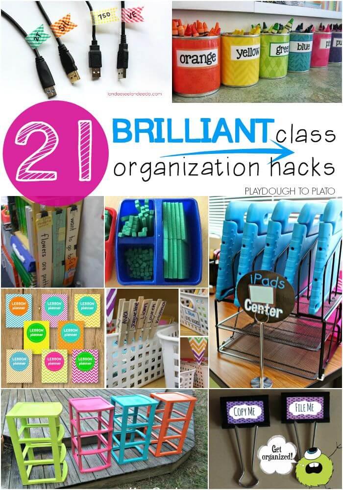 classroom organizer chair covers gray swivel 21 brilliant organization hacks playdough to plato tips these ideas are