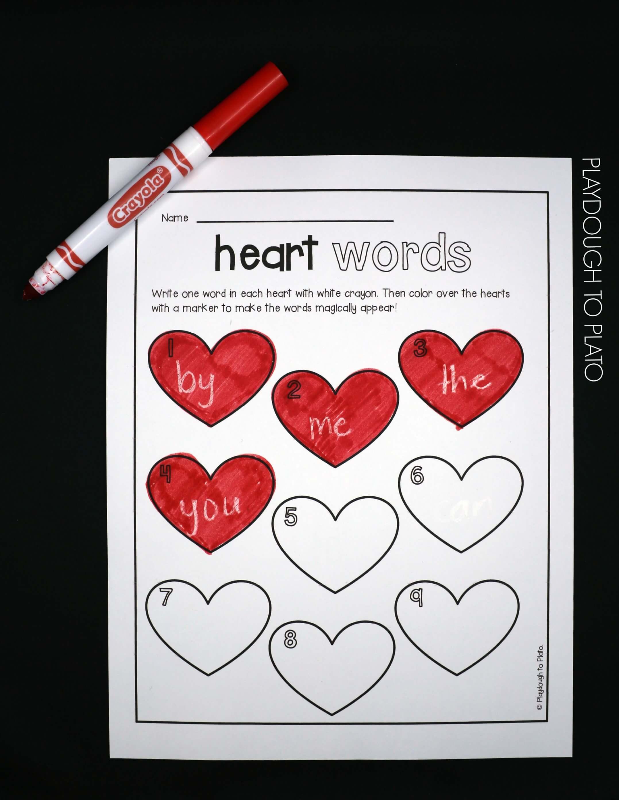 Magic Heart Sight Words
