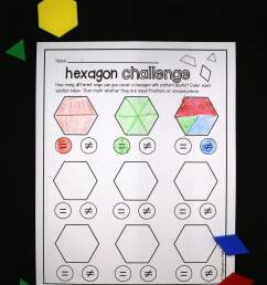 Pattern Blocks Worksheets   Printable Worksheets and Activities for  Teachers [ 2832 x 2176 Pixel ]