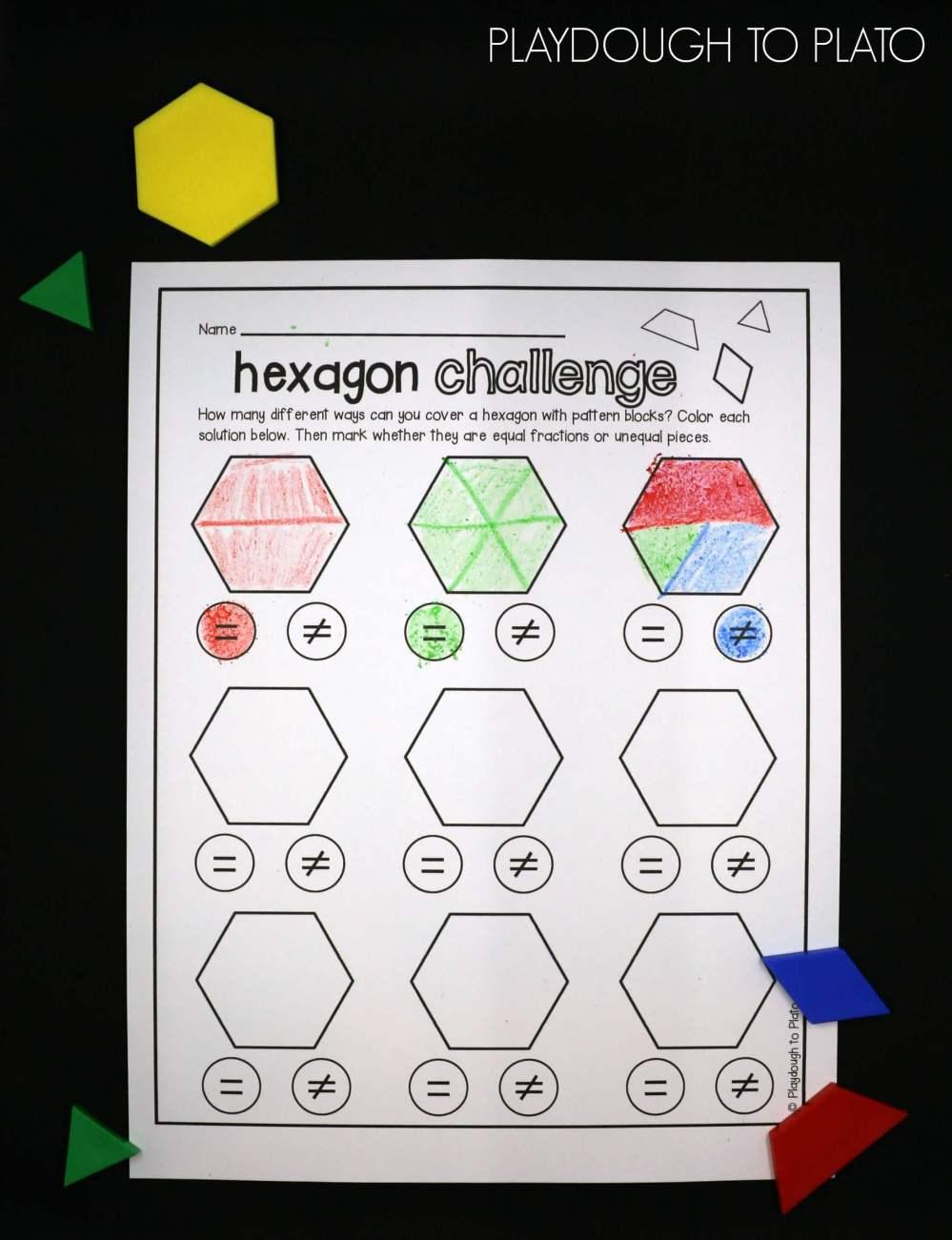 medium resolution of Pattern Blocks Worksheets   Printable Worksheets and Activities for  Teachers