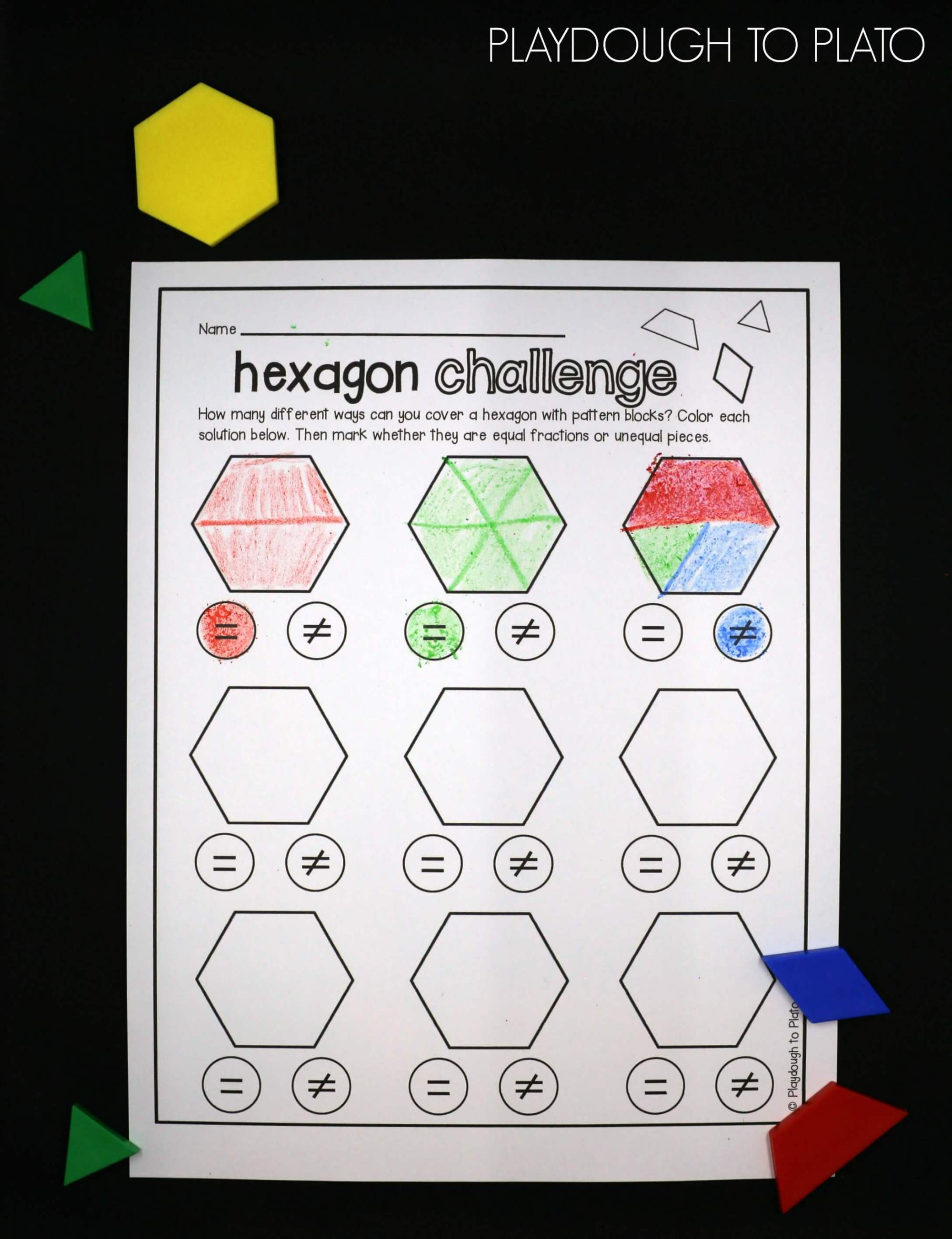 hight resolution of Pattern Blocks Worksheets   Printable Worksheets and Activities for  Teachers
