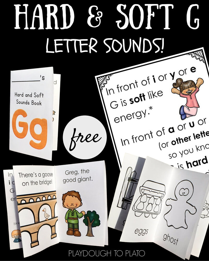 hight resolution of Hard and Soft G Little Reader Books - Playdough To Plato