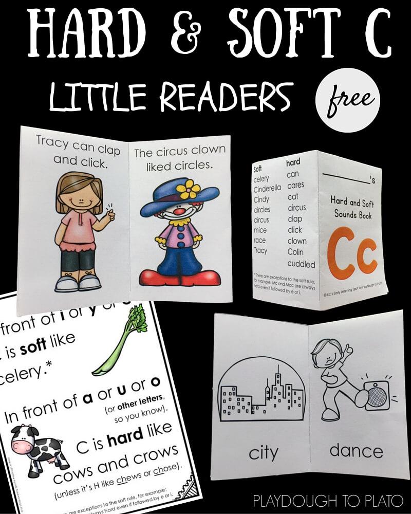 medium resolution of Hard and Soft C Little Reader Books - Playdough To Plato