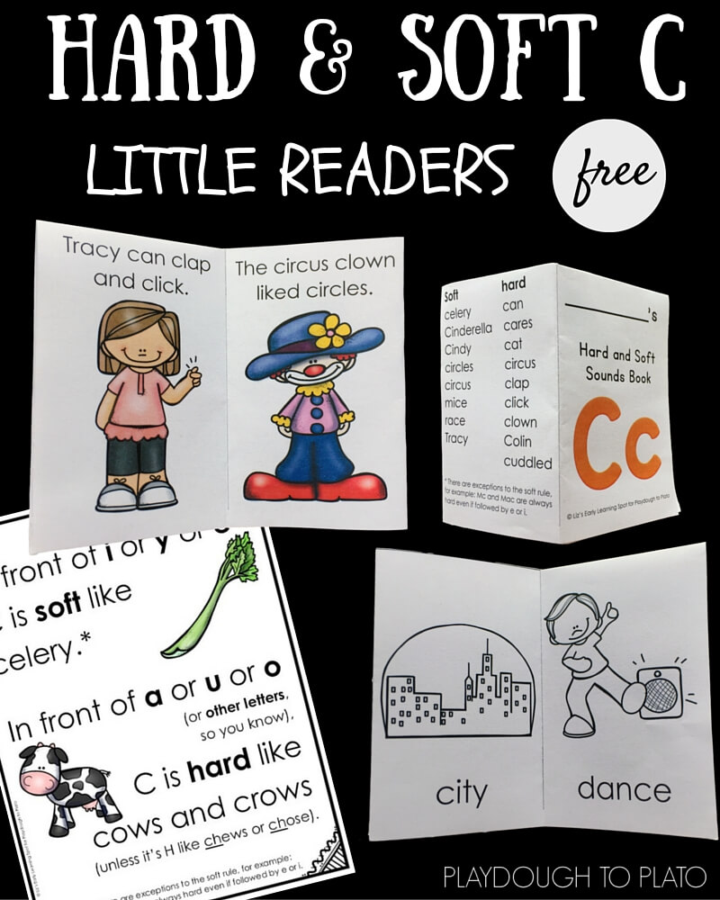 hight resolution of Hard and Soft C Little Reader Books - Playdough To Plato