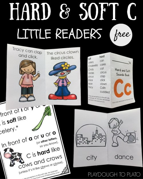 small resolution of Hard and Soft C Little Reader Books - Playdough To Plato