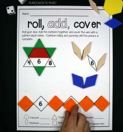 Roll and Cover Pattern Block Mats - Playdough To Plato [ 2802 x 2108 Pixel ]