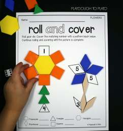 Roll and Cover Pattern Block Mats - Playdough To Plato [ 2783 x 2203 Pixel ]