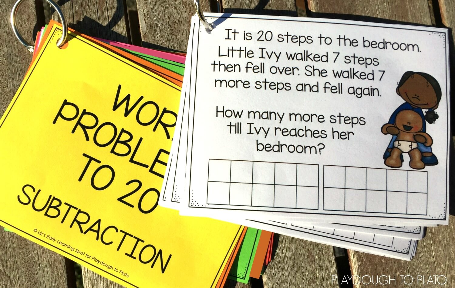 hight resolution of Subtraction Word Problems to 20 - Playdough To Plato
