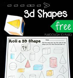Roll and Color 3D Shapes - Playdough To Plato [ 1344 x 960 Pixel ]