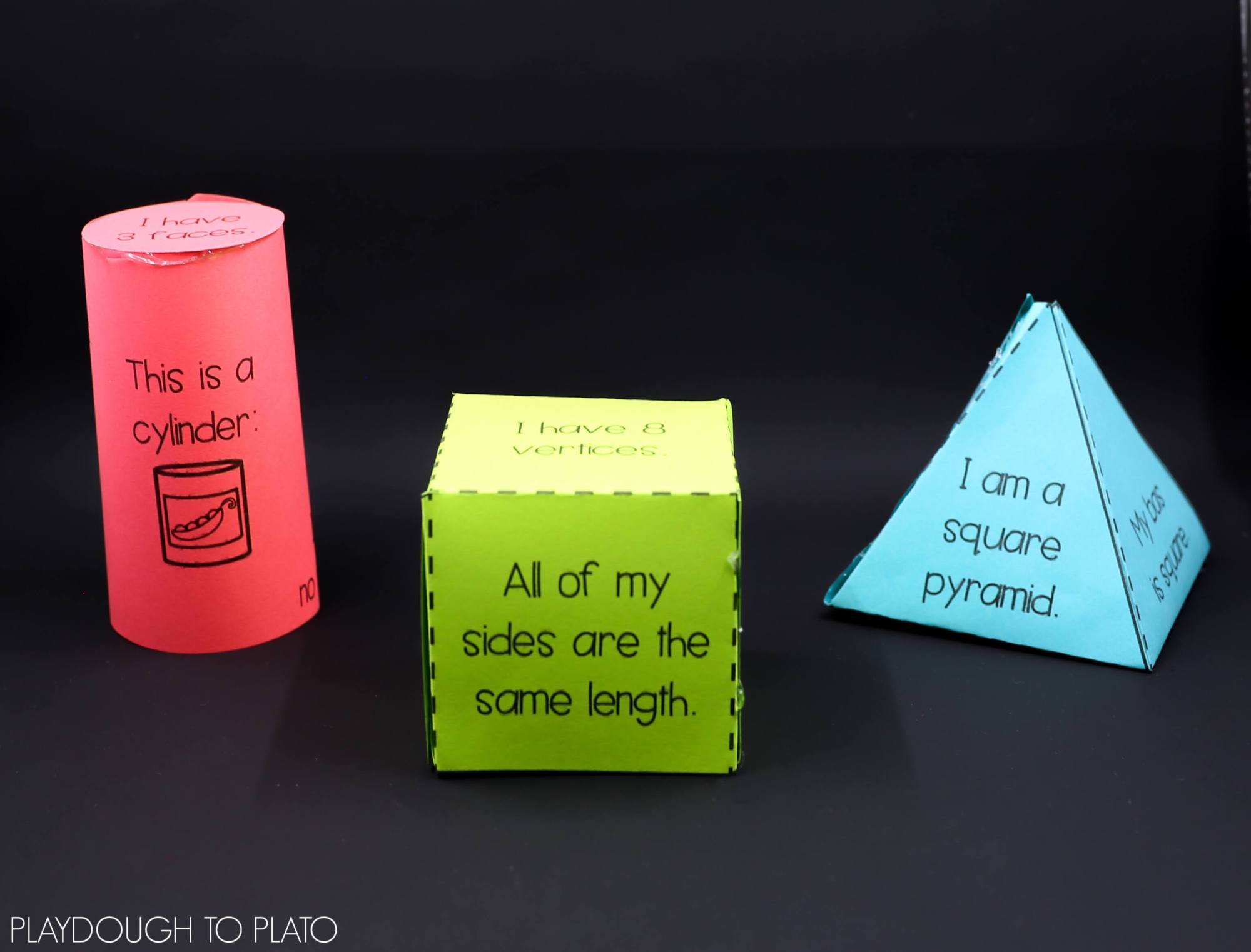 hight resolution of 3D Shape Activities - Playdough To Plato