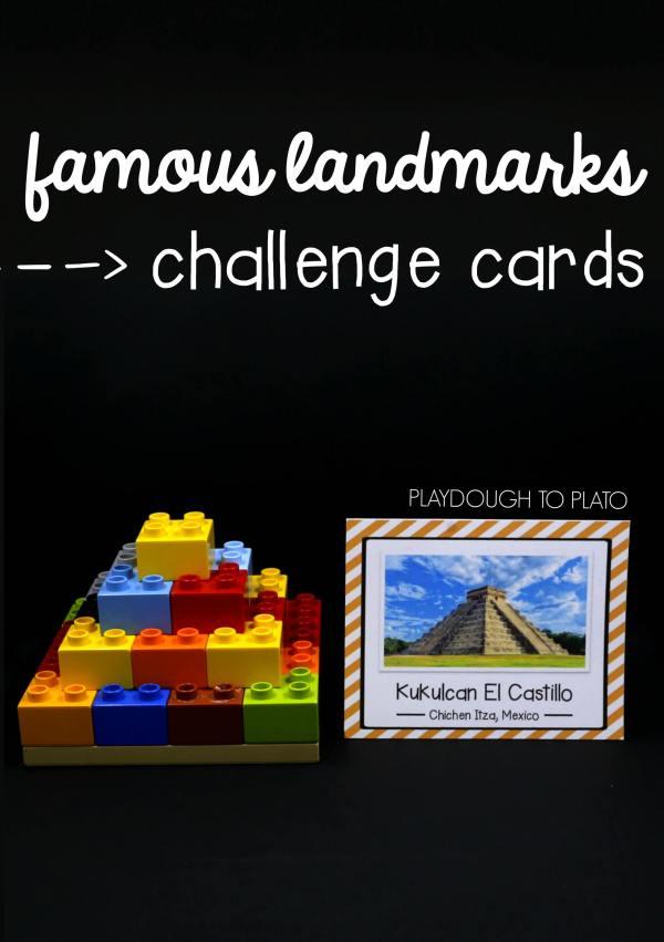 Stem Challenge Build Famous Landmarks - Playdough Plato