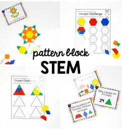 STEM Challenge: Pattern Blocks - Playdough To Plato [ 2000 x 2000 Pixel ]