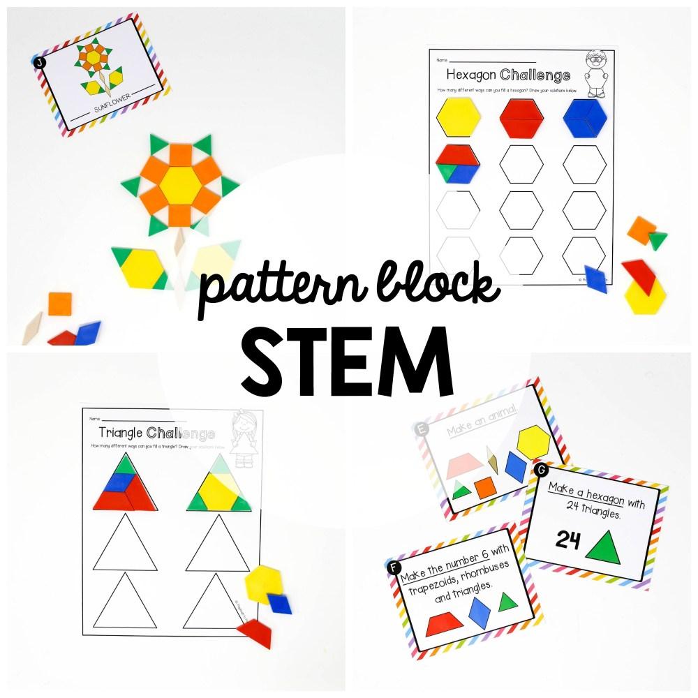 medium resolution of STEM Challenge: Pattern Blocks - Playdough To Plato