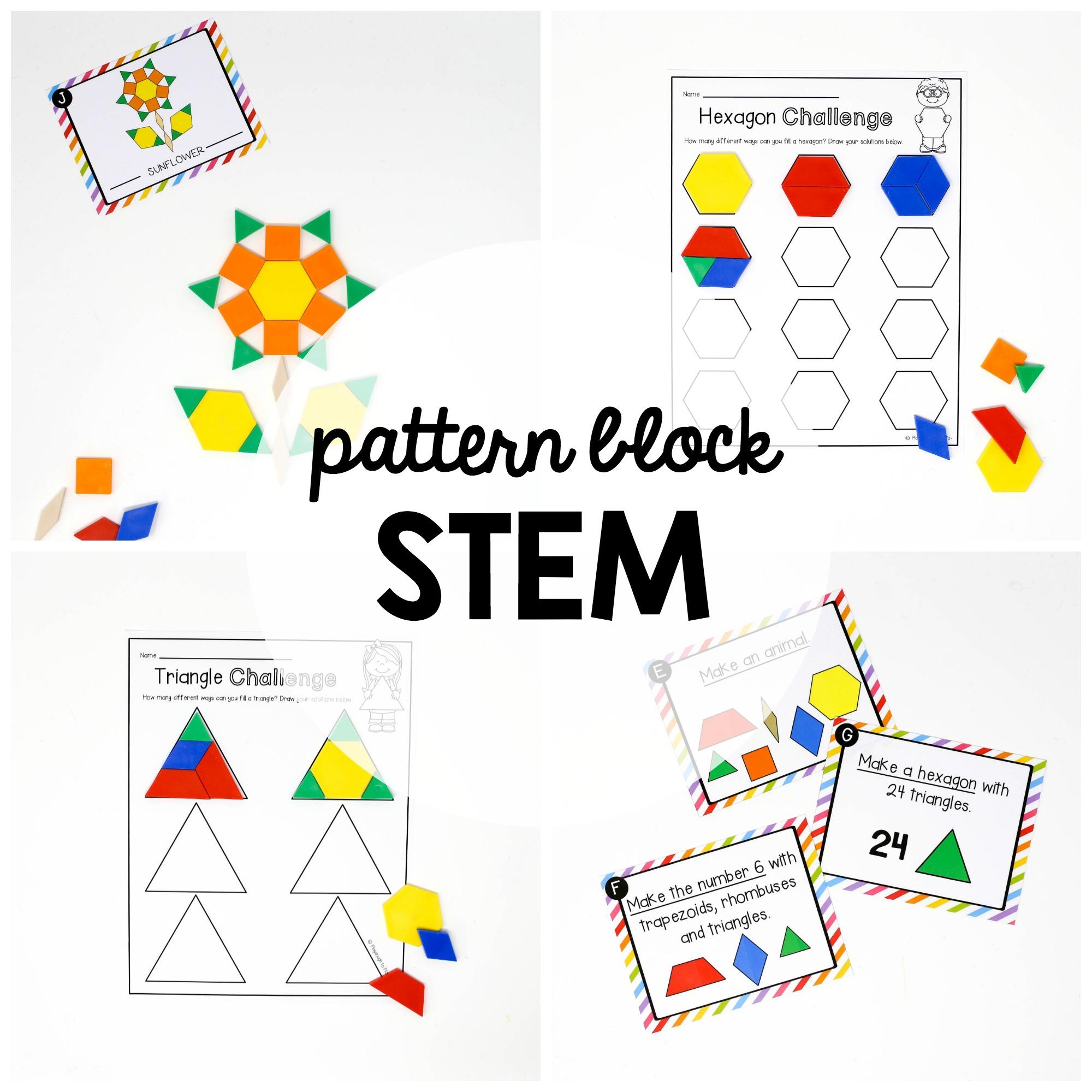 hight resolution of STEM Challenge: Pattern Blocks - Playdough To Plato