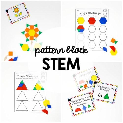 small resolution of STEM Challenge: Pattern Blocks - Playdough To Plato